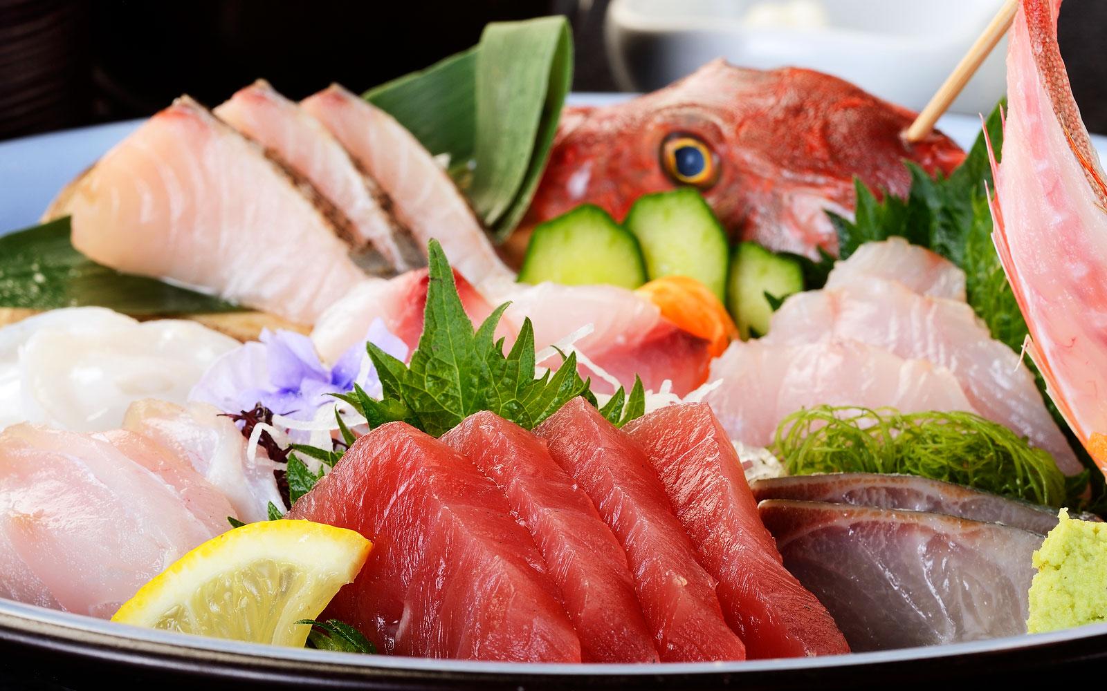 沼津港直送の新鮮な魚介類